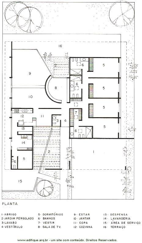 Excepcional edifique - Projetos arquitetônicos residenciais - A planta da casa. GJ73